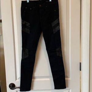 Rag & Bone denim and leather skinny jeans